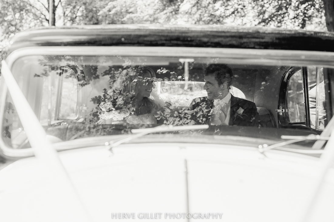 wedding car black and white