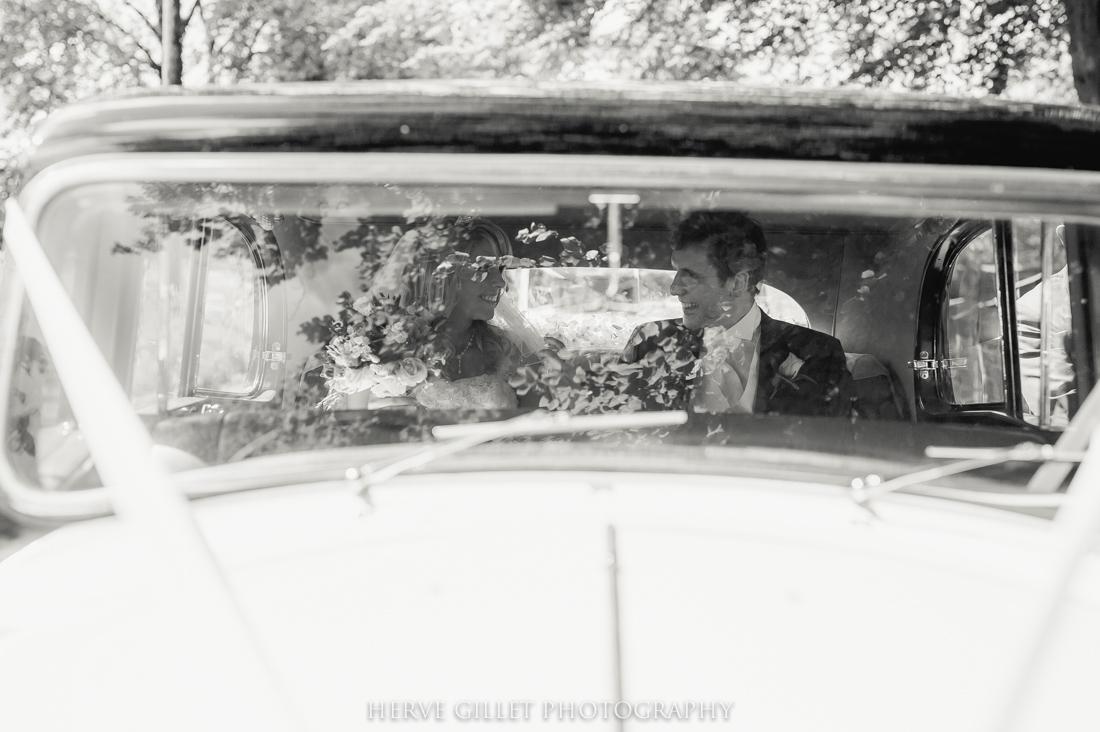 wedding car black and white