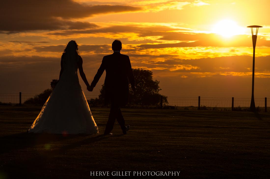 silhouette against the sun