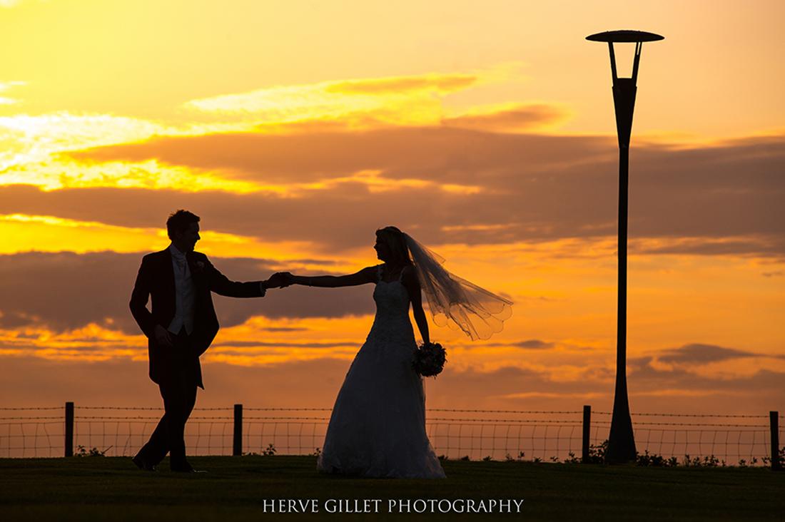 dancing at the sun set