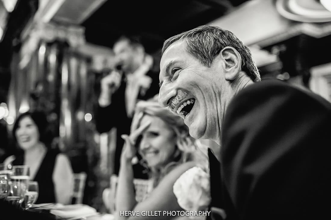 Dad Laughing Wedding Photography Herve Photography