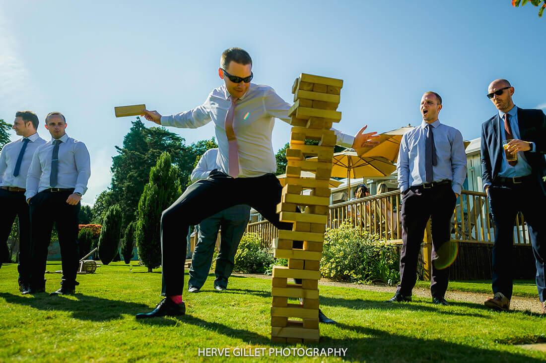 Giant Jenga Wedding Photography Herve Photography