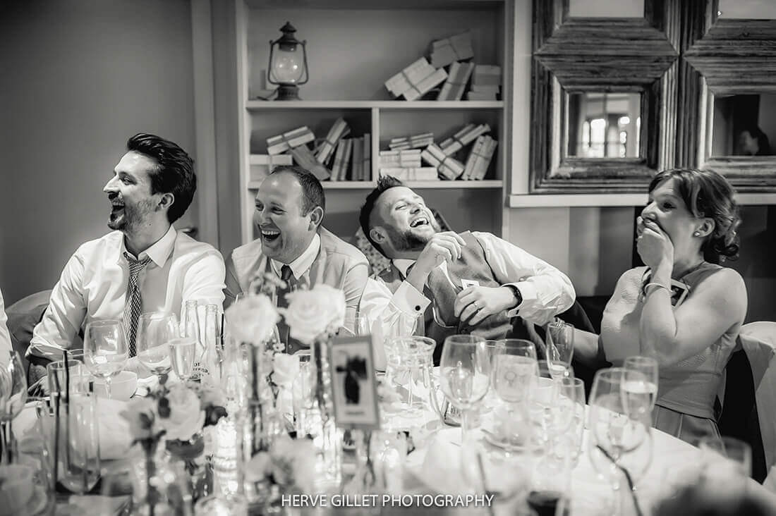 Guest Laughing Wedding Photography Herve Photography