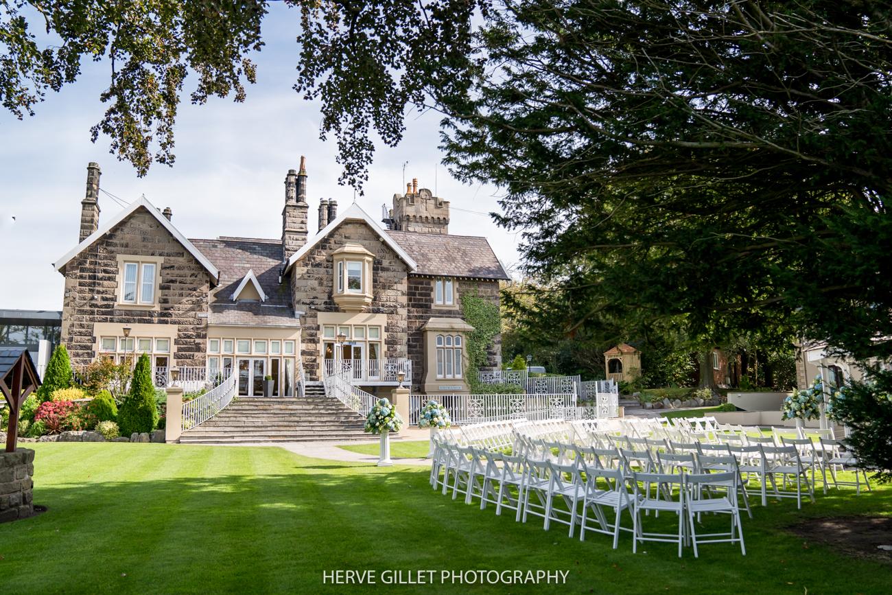 West Tower garden wedding photography