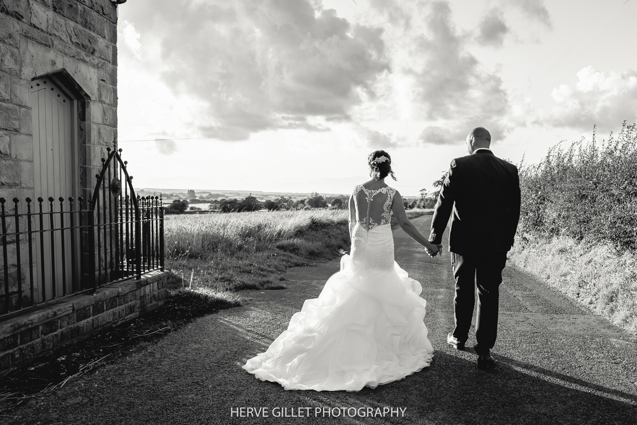 West Tower black and white wedding photograph