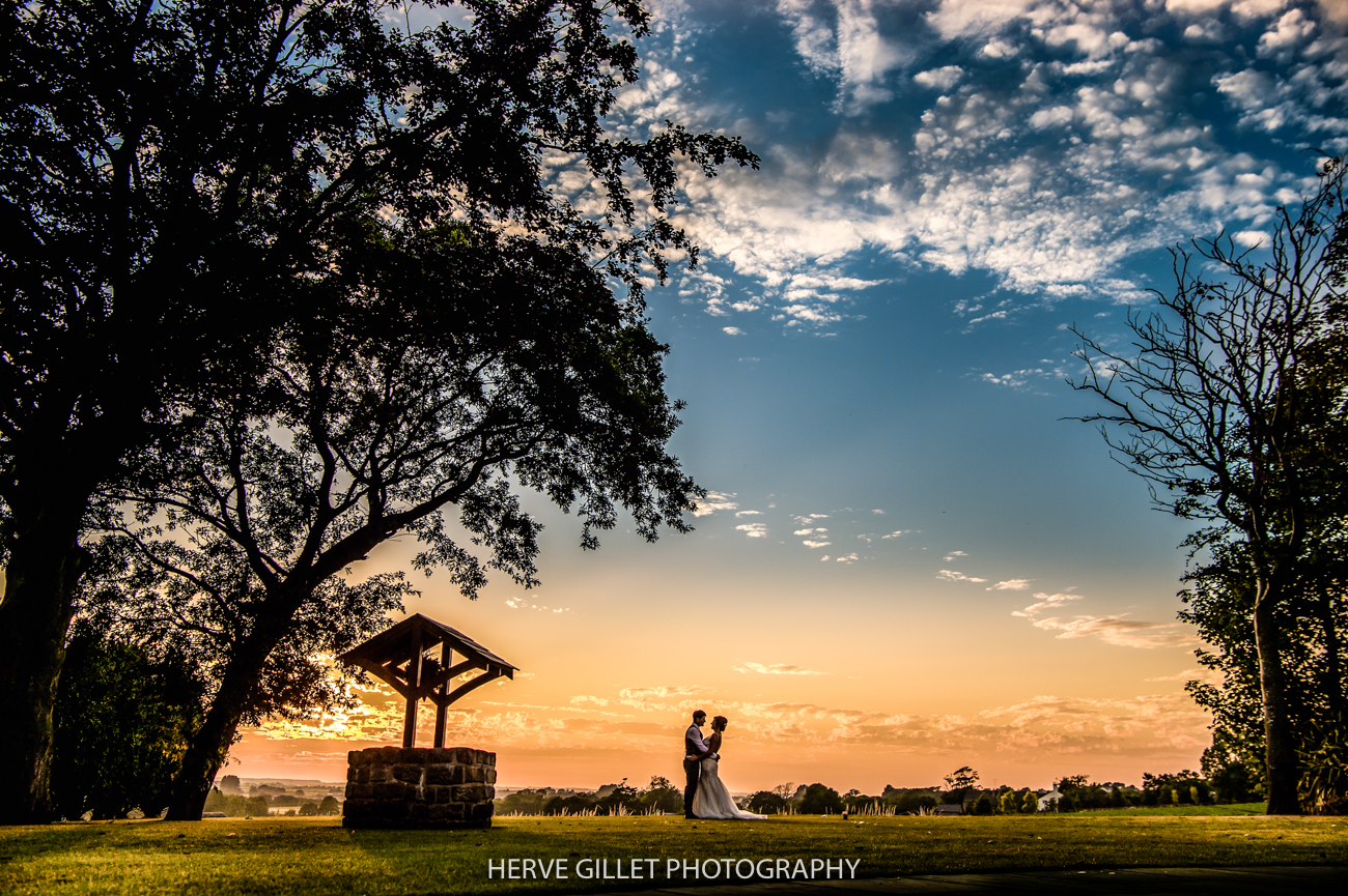 sun set wedding photography at the West Tower