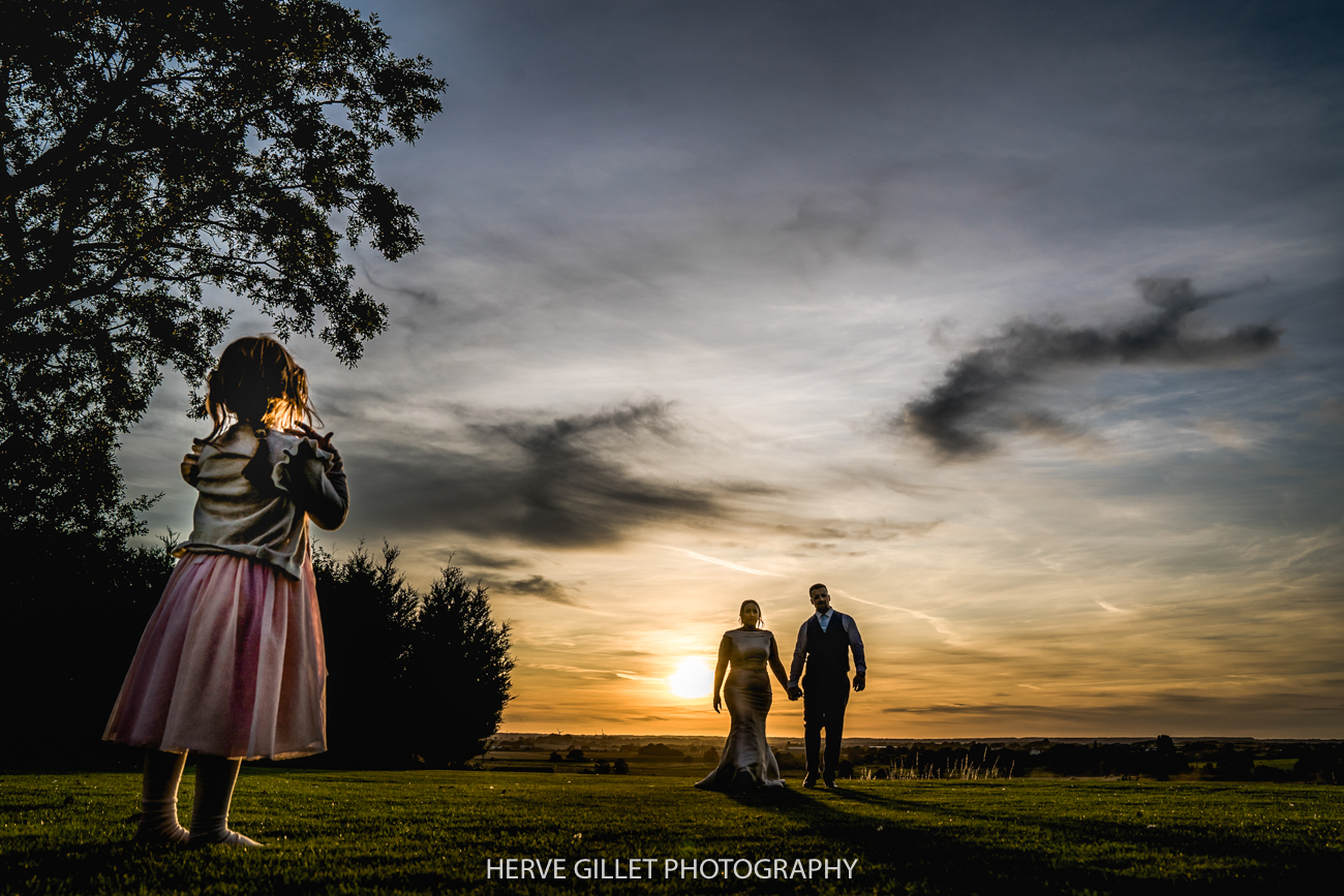 Bride and Groom sunset photography at the West Tower